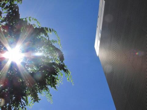 ビルと太陽